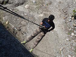 Rappelling in jim corbett